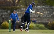 1 May 2021; Andy McBrine of North West Warriors avoids a bouncer from David O'Halloran of Leinster Lightning during the Inter-Provincial Cup 2021 match between Leinster Lightning and North West Warriors at Pembroke Cricket Club in Dublin. Photo by Brendan Moran/Sportsfile