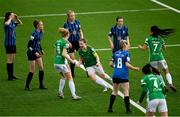 1 May 2021; Becky Cassin of Cork City celebrates after scoring her side's first goal during the SSE Airtricity Women's National League match between Athlone Town and Cork City at Athlone Town Stadium in Athlone, Westmeath. Photo by Ramsey Cardy/Sportsfile