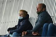 1 May 2021; Republic of Ireland women's manager Vera Pauw and goalkeeping coach Jan Willem van Ede during the SSE Airtricity Women's National League match between Athlone Town and Cork City at Athlone Town Stadium in Athlone, Westmeath. Photo by Ramsey Cardy/Sportsfile