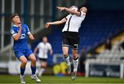 30 April 2021; Michael Duffy of Dundalk in action against Cameron Evans of Waterford during the SSE Airtricity League Premier Division match between Waterford and Dundalk at RSC in Waterford. Photo by Sam Barnes/Sportsfile
