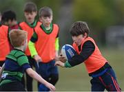 2 May 2021; Charlie Doyle during Seapoint Minis rugby training at Seapoint RFC in Dublin. Photo by Ramsey Cardy/Sportsfile