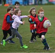 2 May 2021; Oisin Kennedy during Seapoint Minis rugby training at Seapoint RFC in Dublin. Photo by Ramsey Cardy/Sportsfile