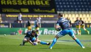 2 May 2021; Cian Healy, left, and Jack Conan of Leinster warm up before the Heineken Champions Cup semi-final match between La Rochelle and Leinster at Stade Marcel Deflandre in La Rochelle, France. Photo by Julien Poupart/Sportsfile