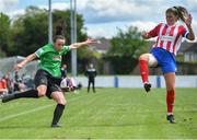 2 May 2021; Áine O'Gorman of Peamount United in action against Tara O'Gorman of Treaty United during the SSE Airtricity Women's National League match between Treaty United and Peamount United at Jackman Park in Limerick. Photo by Piaras Ó Mídheach/Sportsfile