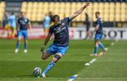 2 May 2021; Ross Byrne of Leinster warms up before the Heineken Champions Cup semi-final match between La Rochelle and Leinster at Stade Marcel Deflandre in La Rochelle, France. Photo by Julien Poupart/Sportsfile