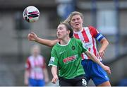 2 May 2021; Sadhbh Doyle of Peamount United in action against Tara O'Gorman of Treaty United during the SSE Airtricity Women's National League match between Treaty United and Peamount United at Jackman Park in Limerick. Photo by Piaras Ó Mídheach/Sportsfile