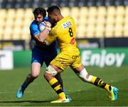 2 May 2021; Robbie Henshaw of Leinster is tackled by Victor Vito of La Rochelle during the Heineken Champions Cup semi-final match between La Rochelle and Leinster at Stade Marcel Deflandre in La Rochelle, France. Photo by Julien Poupart/Sportsfile