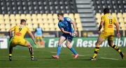 2 May 2021; Garry Ringrose of Leinster in action against Tawera Kerr Barlow, left, and Geoffrey Doumayrou of La Rochelle during the Heineken Champions Cup semi-final match between La Rochelle and Leinster at Stade Marcel Deflandre in La Rochelle, France. Photo by Julien Poupart/Sportsfile