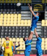 2 May 2021; Jack Conan of Leinster wins a lineout from during the Heineken Champions Cup semi-final match between La Rochelle and Leinster at Stade Marcel Deflandre in La Rochelle, France. Photo by Julien Poupart/Sportsfile