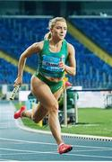 2 May 2021; Sarah Quinn of Ireland competing in the 4x200 metre final during the IAAF World Athletics Relays at the Merchant Slaski Stadium in Chorzow, Poland. Photo by Radoslaw Jozwiak/Sportsfile