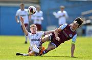 3 May 2021; Ross Tierney of Bohemians in action against James Brown of Drogheda United during the SSE Airtricity League Premier Division match between Drogheda United and Bohemians at Head in the Game Park in Drogheda, Louth. Photo by Sam Barnes/Sportsfile