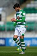 3 May 2021; Danny Mandroiu of Shamrock Rovers celebrates after scoring his side's third goal during the SSE Airtricity League Premier Division match between Shamrock Rovers and Waterford at Tallaght Stadium in Dublin. Photo by Seb Daly/Sportsfile