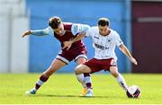 3 May 2021; Liam Burt of Bohemians in action against Darragh Markey of Drogheda United during the SSE Airtricity League Premier Division match between Drogheda United and Bohemians at Head in the Game Park in Drogheda, Louth. Photo by Sam Barnes/Sportsfile