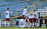 3 May 2021; Bohemians players celebrate after Liam Burt scored his side's first goal during the SSE Airtricity League Premier Division match between Drogheda United and Bohemians at Head in the Game Park in Drogheda, Louth. Photo by Sam Barnes/Sportsfile