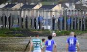 30 April 2021; Supporters watch on from outside Finn Park during the SSE Airtricity League Premier Division match between Finn Harps and Shamrock Rovers at Finn Park in Ballybofey, Donegal. Photo by Stephen McCarthy/Sportsfile