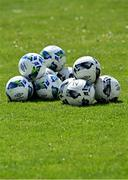 2 May 2021; A general view of footballs before the SSE Airtricity Women's National League match between Treaty United and Peamount United at Jackman Park in Limerick. Photo by Piaras Ó Mídheach/Sportsfile