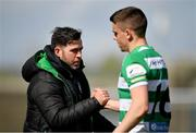3 May 2021; Shamrock Rovers manager Stephen Bradley and Gary O'Neill following thier side's victory in the SSE Airtricity League Premier Division match between Shamrock Rovers and Waterford at Tallaght Stadium in Dublin. Photo by Seb Daly/Sportsfile