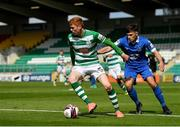 3 May 2021; Darragh Nugent of Shamrock Rovers in action against Adam O'Reilly of Waterford during the SSE Airtricity League Premier Division match between Shamrock Rovers and Waterford at Tallaght Stadium in Dublin. Photo by Seb Daly/Sportsfile