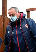 3 May 2021; St Patrick's Athletic manager Alan Mathews arriving to The Showgrounds before the SSE Airtricity League Premier Division match between Sligo Rovers and St Patrick's Athletic at The Showgrounds in Sligo. Photo by Eóin Noonan/Sportsfile