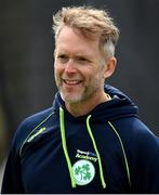 1 May 2021; Cricket Ireland academy manager and performance coach Peter Johnston during the Inter-Provincial Cup 2021 match between Leinster Lightning and North West Warriors at Pembroke Cricket Club in Dublin. Photo by Brendan Moran/Sportsfile