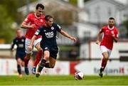 3 May 2021; Billy King of St Patrick's Athletic in action against John Mahon of Sligo Rovers during the SSE Airtricity League Premier Division match between Sligo Rovers and St Patrick's Athletic at The Showgrounds in Sligo. Photo by Eóin Noonan/Sportsfile