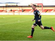 3 May 2021; Ian Bermingham of St Patrick's Athletic celebrates after scoring a late equaliser for his side during the SSE Airtricity League Premier Division match between Sligo Rovers and St Patrick's Athletic at The Showgrounds in Sligo. Photo by Eóin Noonan/Sportsfile
