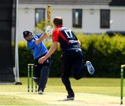 4 May 2021; Lorcan Tucker plays a shot during the Inter-Provincial Cup 2021 match between Leinster Lightning and Northern Knights at Pembroke Cricket Club in Dublin.  Photo by Matt Browne/Sportsfile