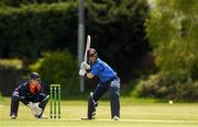 4 May 2021; George Dockrell of Leinster Lightning plays a shot during the Inter-Provincial Cup 2021 match between Leinster Lightning and Northern Knights at Pembroke Cricket Club in Dublin.  Photo by Matt Browne/Sportsfile