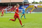 1 May 2021; Jamie Finn of Shelbourne during the SSE Airtricity Women's National League match between Shelbourne and DLR Waves at Tolka Park in Dublin. Photo by Eóin Noonan/Sportsfile