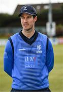 4 May 2021; Player of the match George Dockrell of Leinster Lightning after the Inter-Provincial Cup 2021 match between Leinster Lightning and Northern Knights at Pembroke Cricket Club in Dublin.  Photo by Matt Browne/Sportsfile