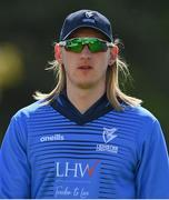 1 May 2021; Jamie Grassi of Leinster Lightning during the Inter-Provincial Cup 2021 match between Leinster Lightning and North West Warriors at Pembroke Cricket Club in Dublin. Photo by Brendan Moran/Sportsfile