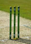 1 May 2021; A general view of a wicket before the Inter-Provincial Cup 2021 match between Leinster Lightning and North West Warriors at Pembroke Cricket Club in Dublin. Photo by Brendan Moran/Sportsfile