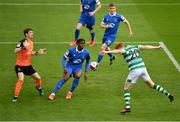 3 May 2021; Rory Gaffney of Shamrock Rovers has a header on goal during the SSE Airtricity League Premier Division match between Shamrock Rovers and Waterford at Tallaght Stadium in Dublin. Photo by Seb Daly/Sportsfile