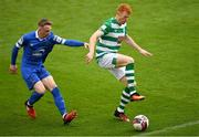 3 May 2021; Rory Gaffney of Shamrock Rovers in action against Darragh Power of Waterford during the SSE Airtricity League Premier Division match between Shamrock Rovers and Waterford at Tallaght Stadium in Dublin. Photo by Seb Daly/Sportsfile