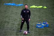 3 May 2021; Derry City coach Raffaele Cretaro before the SSE Airtricity League Premier Division match between Derry City and Finn Harps at the Ryan McBride Brandywell Stadium in Derry. Photo by Stephen McCarthy/Sportsfile