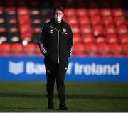 3 May 2021; Derry City manager Ruaidhri Higgins before the SSE Airtricity League Premier Division match between Derry City and Finn Harps at the Ryan McBride Brandywell Stadium in Derry. Photo by Stephen McCarthy/Sportsfile