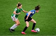 1 May 2021; Kellie Brennan of Athlone Town in action against Lauren Walsh of Cork City during the SSE Airtricity Women's National League match between Athlone Town and Cork City at Athlone Town Stadium in Athlone, Westmeath. Photo by Ramsey Cardy/Sportsfile