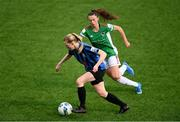 1 May 2021; Leah Brady of Athlone Town in action against Jessica Hennessy of Cork City during the SSE Airtricity Women's National League match between Athlone Town and Cork City at Athlone Town Stadium in Athlone, Westmeath. Photo by Ramsey Cardy/Sportsfile