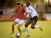7 May 2021; Jordan Gibson of Sligo Rovers in action against Wilfred Zahibo of Dundalk during the SSE Airtricity League Premier Division match between Dundalk and Sligo Rovers at Oriel Park in Dundalk, Louth. Photo by Stephen McCarthy/Sportsfile