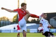 7 May 2021; Lewis Banks of Sligo Rovers in action against Michael Duffy of Dundalk during the SSE Airtricity League Premier Division match between Dundalk and Sligo Rovers at Oriel Park in Dundalk, Louth. Photo by Stephen McCarthy/Sportsfile