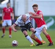 7 May 2021; Chris Shields of Dundalk in action against Niall Morahan of Sligo Rovers during the SSE Airtricity League Premier Division match between Dundalk and Sligo Rovers at Oriel Park in Dundalk, Louth. Photo by Stephen McCarthy/Sportsfile