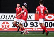 7 May 2021; Jordan Gibson of Sligo Rovers celebrates after scoring his side's first goal with team-mate Johnny Kenny, left, during the SSE Airtricity League Premier Division match between Dundalk and Sligo Rovers at Oriel Park in Dundalk, Louth. Photo by Ben McShane/Sportsfile