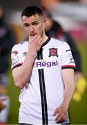 7 May 2021; A dejected Michael Duffy of Dundalk following the SSE Airtricity League Premier Division match between Dundalk and Sligo Rovers at Oriel Park in Dundalk, Louth. Photo by Stephen McCarthy/Sportsfile