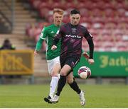7 May 2021; Conor Crowley of Wexford in action against Alec Byrne of Cork City during the SSE Airtricity League First Division match between Cork City and Wexford at Turners Cross in Cork. Photo by Michael P Ryan/Sportsfile