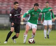 7 May 2021; Jack Baxter of Cork City in action against Harry Groome of Wexford during the SSE Airtricity League First Division match between Cork City and Wexford at Turners Cross in Cork. Photo by Michael P Ryan/Sportsfile