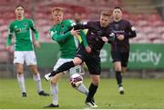 7 May 2021; Karl Manahan of Wexford in action against Alec Byrne of Cork City during the SSE Airtricity League First Division match between Cork City and Wexford at Turners Cross in Cork. Photo by Michael P Ryan/Sportsfile