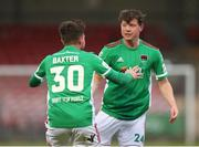 7 May 2021; Cian Murphy of Cork City, right, celebrates with team-mate Jack Baxter after scoring his side's first goal during the SSE Airtricity League First Division match between Cork City and Wexford at Turners Cross in Cork. Photo by Michael P Ryan/Sportsfile