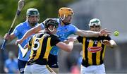 8 May 2021; Eamonn Dillon of Dublin is tackled by Darragh Corcoran of Kilkenny during the Allianz Hurling League Division 1 Group B Round 1 match between Dublin and Kilkenny at Parnell Park in Dublin. Photo by Piaras Ó Mídheach/Sportsfile