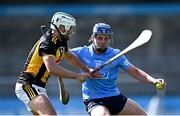 8 May 2021; David Keogh of Dublin in action against Padraig Walsh of Kilkenny during the Allianz Hurling League Division 1 Group B Round 1 match between Dublin and Kilkenny at Parnell Park in Dublin. Photo by Piaras Ó Mídheach/Sportsfile