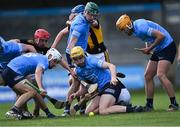 8 May 2021; Daire Gray of Dublin, centre, tries to gather the loose ball during the Allianz Hurling League Division 1 Group B Round 1 match between Dublin and Kilkenny at Parnell Park in Dublin. Photo by Piaras Ó Mídheach/Sportsfile